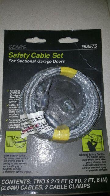 New Garage Door Cable Set 8 2/3 Sectional Doors Torsion ... on New Garage Door Springs  id=30678