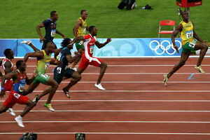 details about usain bolt sprinter running sport photo poster print style d 24x36 9mil paper