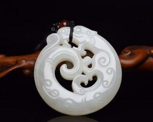 Chinese vintage Jade carving 5.2*5*0.9cm 46g