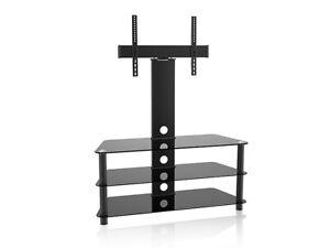 details sur meuble tv support tv max 55 en verre max vesa 600x400 maclean mc 641
