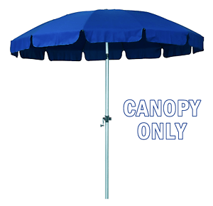 details about new 8 5 ft 12 rib replacement patio umbrella poly canopies pacific blue valance