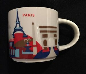 Details about Starbucks Paris Mug YAH France You Are Here Eiffel Tower ...