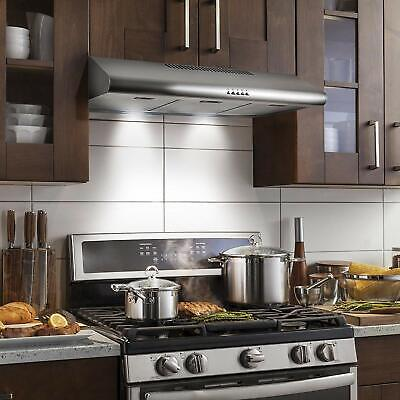 kitchen exhaust hood stove fan 200 cfm ducted under cabinet stainless steel new ebay