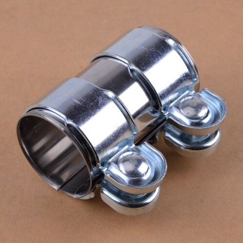 car truck parts 2 exhaust pipe connector heavy duty sleeve double clamp tube adapter joiner car truck exhausts exhaust parts