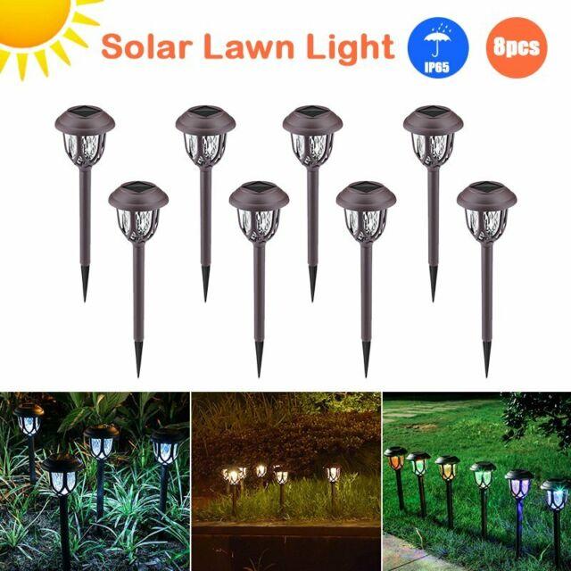 2pcs solar powered spotlight landscape