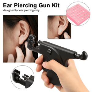 Professional Ear Nose Navel Body Piercing Gun Kit Tool Set with 72Pcs Studs