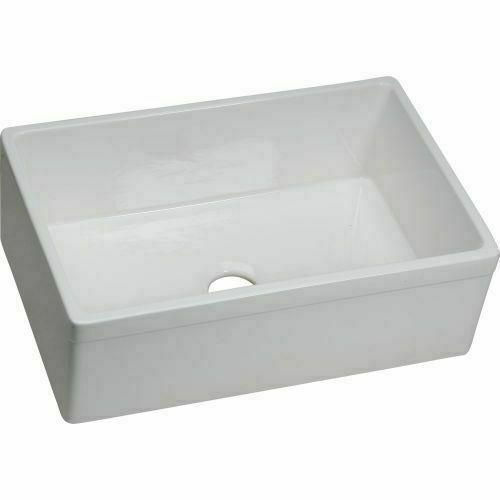 elkay swuf28179wh fireclay single bowl farmhouse sink white