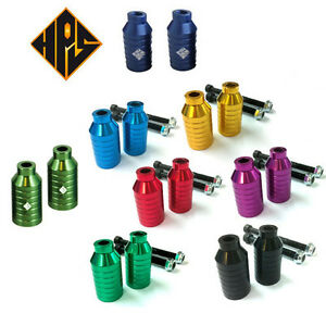 2 TOP QUALITY PRO STUNT SCOOTER PEGS 100 110 METAL CORE ...