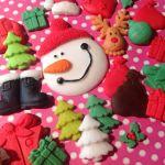 Details About 24 Christmas Decorations Snowman Santa Edible Icing Sugar Paste Cupcake Topper