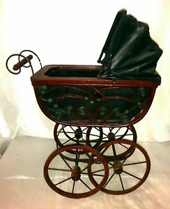 details about antique vintage victorian early 1900 s style baby doll buggy carriage stroller
