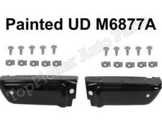 Image Is Loading Painted Ebony Black Ud M6877a Rear Bumper Ends
