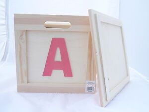 Boite Rangement Bois Casa Deco Chambre Enfant Motif Lettres 2 Tailles Au Choix Ebay