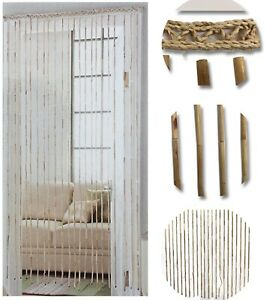 details about natural hanging bamboo wooden beaded door curtain screen insect hanging blinds