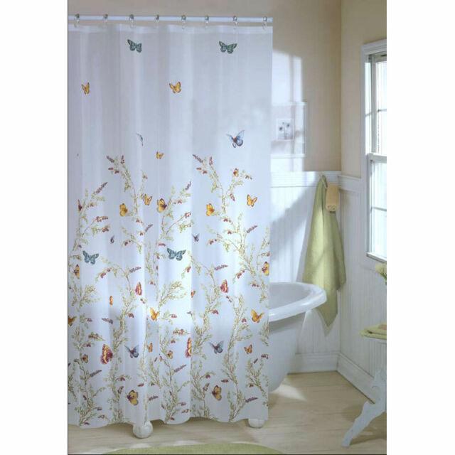 maytex garden flight peva vinyl shower curtain