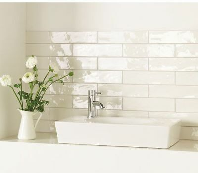 normandy rustic white gloss bathroom