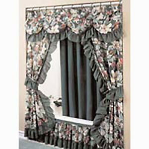 details about fabric shower curtain and bath accessories