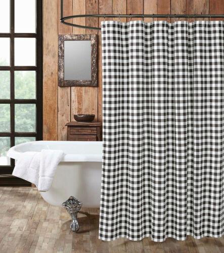 country white plaid buffalo black checks 72 x72 shower curtain hooks shower curtains home garden