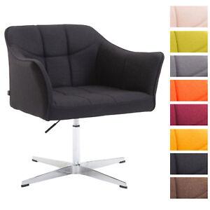 details sur fauteuil de bureau lounge jean a roulettes hauteur reglable revetement en tissu