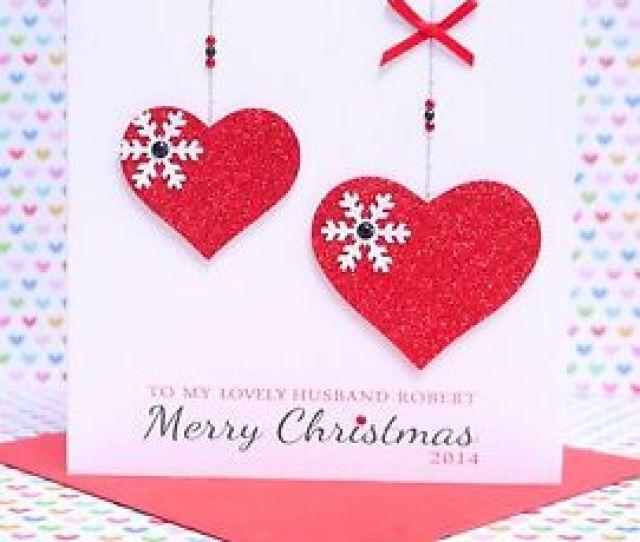 Image Is Loading Personalised Handmade Christmas Card Husband Wife Boyfriend Girlfriend