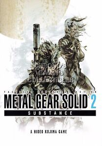 details zu rgc huge poster metal gear solid 2 substance snake raiden ps1 ps2 ps3 mgs205