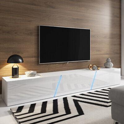 meuble tv a suspendre ou a poser alamara 240 cm blanc noir gris chene led ebay