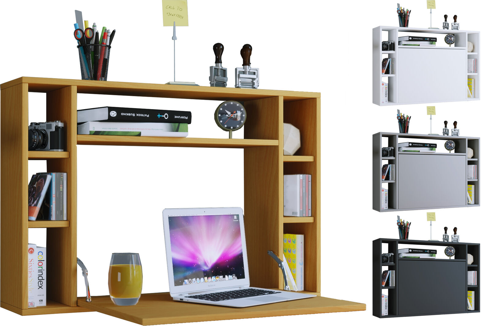 VCM Wandschreibtisch Wandtisch Schreibtisch Wandregal Bürotisch Wandila