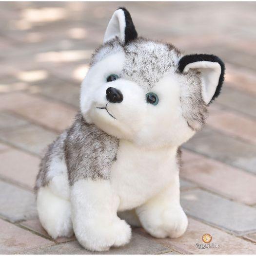 Puppy Stuffed Animal Toys 4 X8 Husky Pet Baby Dog Plush Soft Kawaii