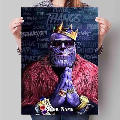 notorious thanos infinity war custom poster print art wall decor ebay