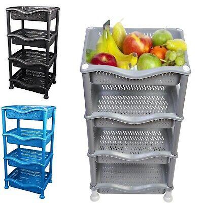 4 tier vegetable fruit storage basket rack kitchen utility stacking stackable ebay