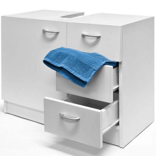 deuba meuble de rangement sous evier 63x54x30cm blanc