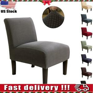details about armless stretch accent chair cover seat protector slipcover elastic modern us