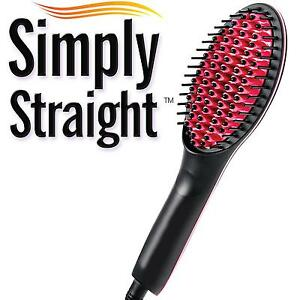 simply straight electric hair care ceramic straighteners b brush lcd display ebay