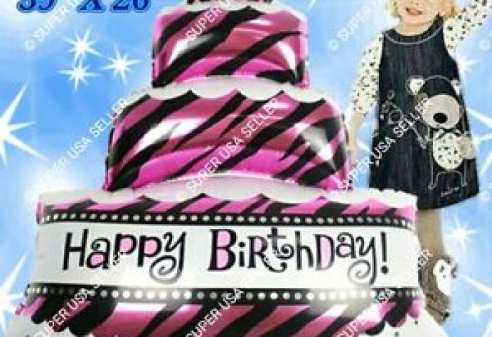 Huge Cake Happy Birthday Letters Numbers Words Foil Balloons Party