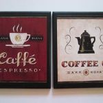 Coffee Wall Decor Signs Country Red Kitchen Pictures Bistro Espresso Dark Roast For Sale Online