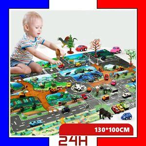 details sur tapis de jeu circuit de voiture enfant bebe impermeable kid ville rues route