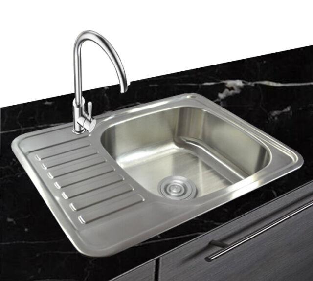 1 evier inox 304 bassin en acier inoxydable encastre 1 lavabo 65x50x17