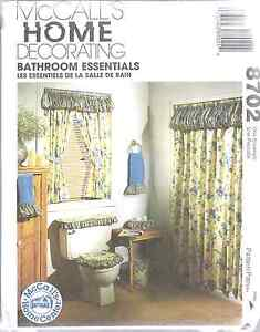 details about 8702 uncut mccalls vintage sewing pattern bathroom essentials curtain covers