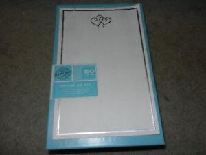 Details About New Gartner Studios 50 Count Platinum Hearts Wedding Invitation Kit Kits Counts