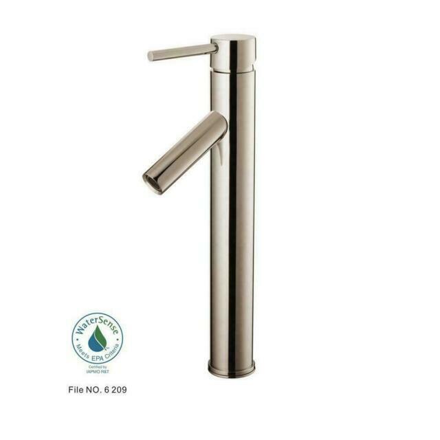 glacier bay 732838 contemporary vessel faucet nickel 617457 f06