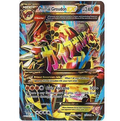 mega primal groudon ex 151 160 ultra rare holo foil star pokemon carte full art ebay
