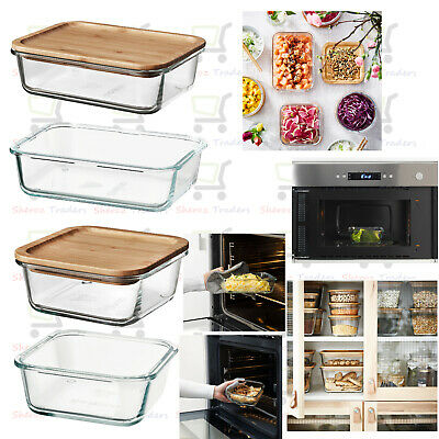 ikea food container glass oven microwave freezer safe new modern ebay