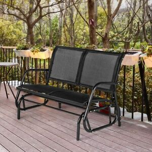 details about aecojoy outdoor swing glider bench 2 person loveseat patio rocking chair
