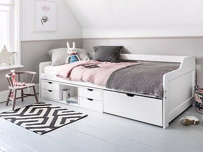 Cabin Bed Day Bed Eva In White Kids Bed Childrens Bunk Drawers Ebay