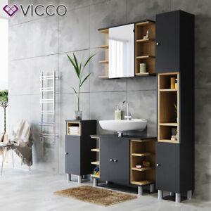 Vicco Mobilier Salle De Bain Meuble Armoire De Bain Meuble Armoire Miroir Ebay