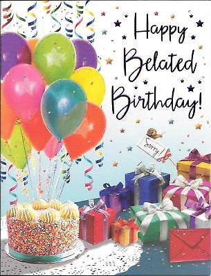 belated birthday card birthday cake presents party 5053349802519 ebay