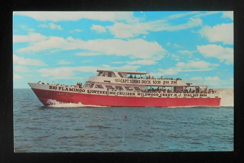 1980 Capt. Sinn's Big Flamingo Sightseeing Cruiser Boat Wildwood Crest NJ PC | eBay