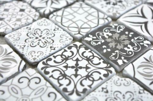 carrelage bricolage glasmosaik retro noir blanc mur cuisine douche salle de bains carrelage miroir63 0103 b
