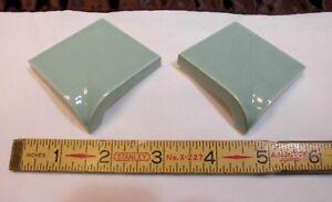 details about 2 pcs green ceramic bullnose inside corner trim tile 2 x 2 by robertson