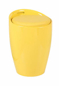 yellow ottoman storage stools abs