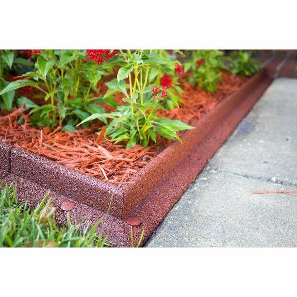 ecoborder 24 ft no dig non toxic patio garden center landscape edging red